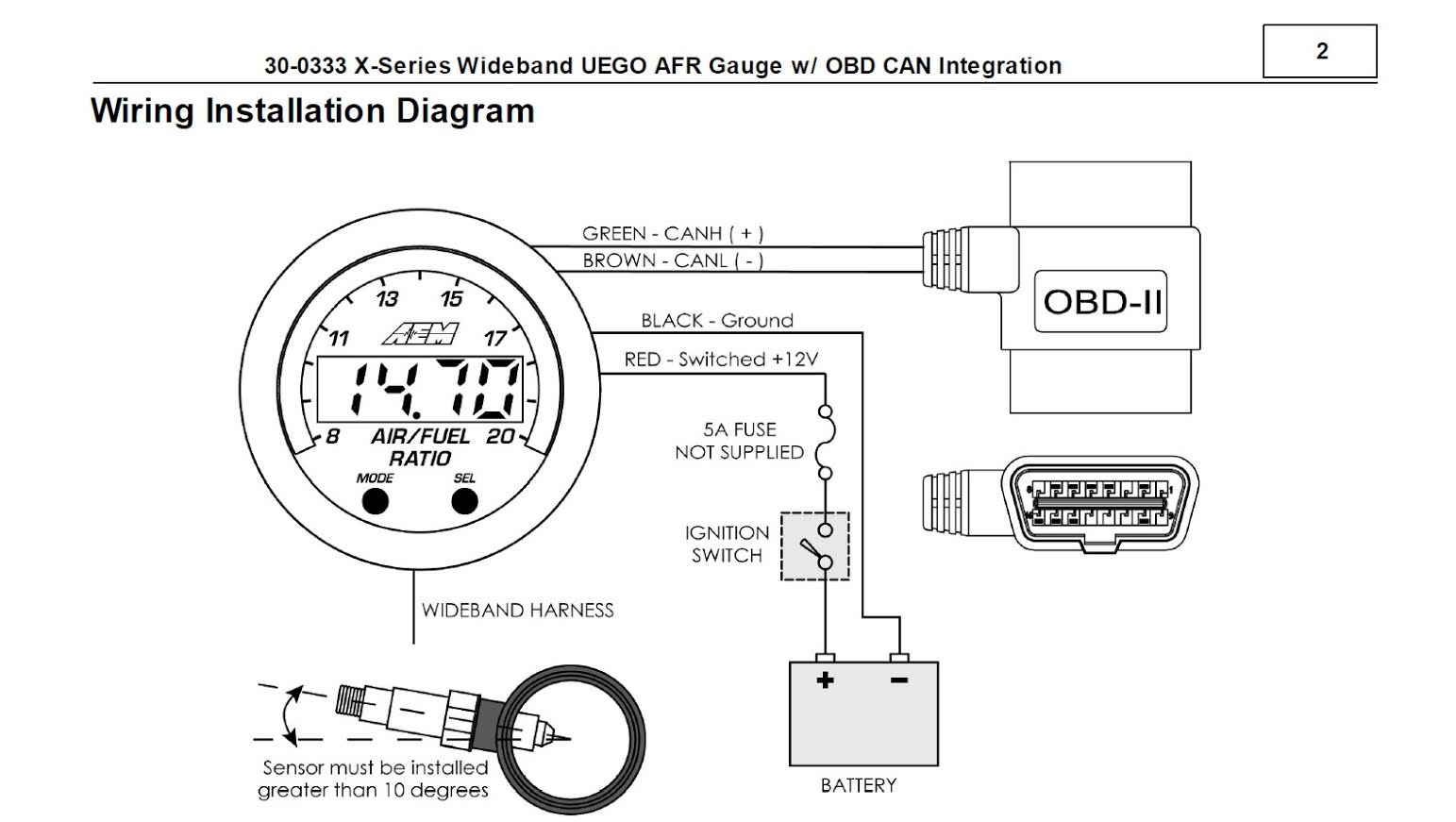 Fuel Aem Air Gauge Wiring Diagram Best Wellread Of Aem Wideband - Aem Wideband Wiring Diagram