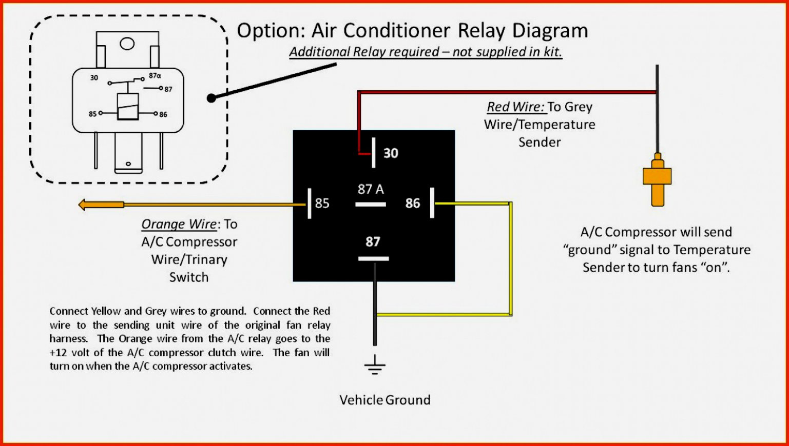 Furnace Blower Relay Diagram - Wiring Diagram Explained - 12 Volt Relay Wiring Diagram