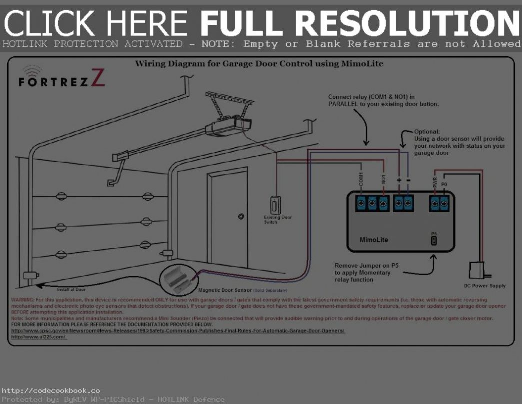 Garage Door Sensor Wiring Diagram | Riasztoszerelo - Garage Wiring Diagram