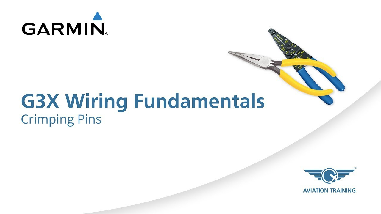 Garmin G3X Wiring Fundamentals Series – Crimping Pins - Youtube - Backup Camera Wiring Diagram