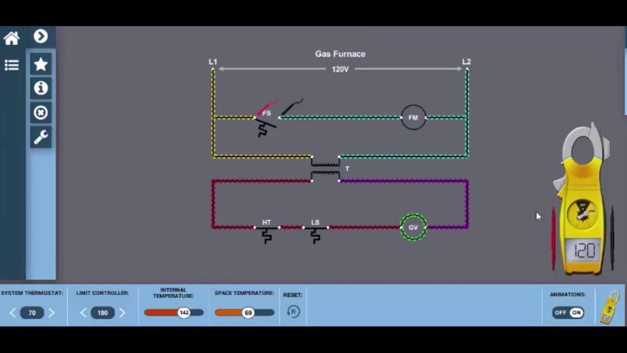 Gas Furnace Wiring Diagram Electricity For Hvac - Youtube - Gas Furnace Thermostat Wiring Diagram