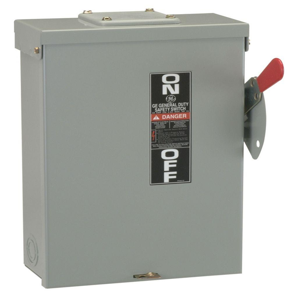 Ge 100 Amp 240-Volt Fusible Outdoor General-Duty Safety Switch - 30 Amp Disconnect Wiring Diagram