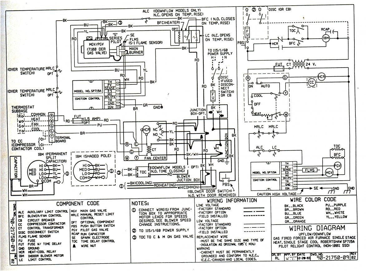 Older Gas Furnace Wiring Diagram