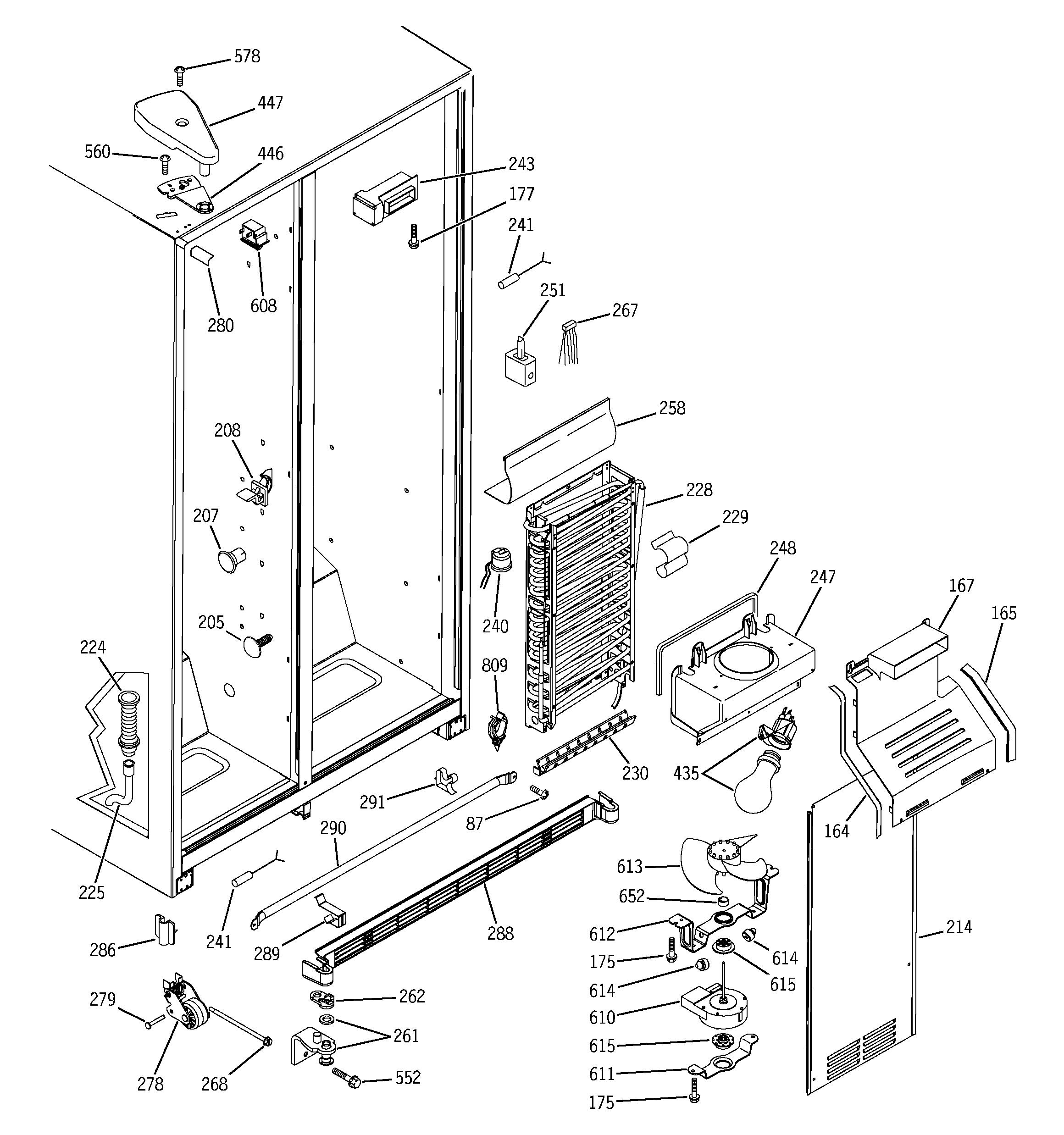 Ge Model Dss25Pfmdww Side-By-Side Refrigerator Genuine Parts - Ge Dryer Wiring Diagram