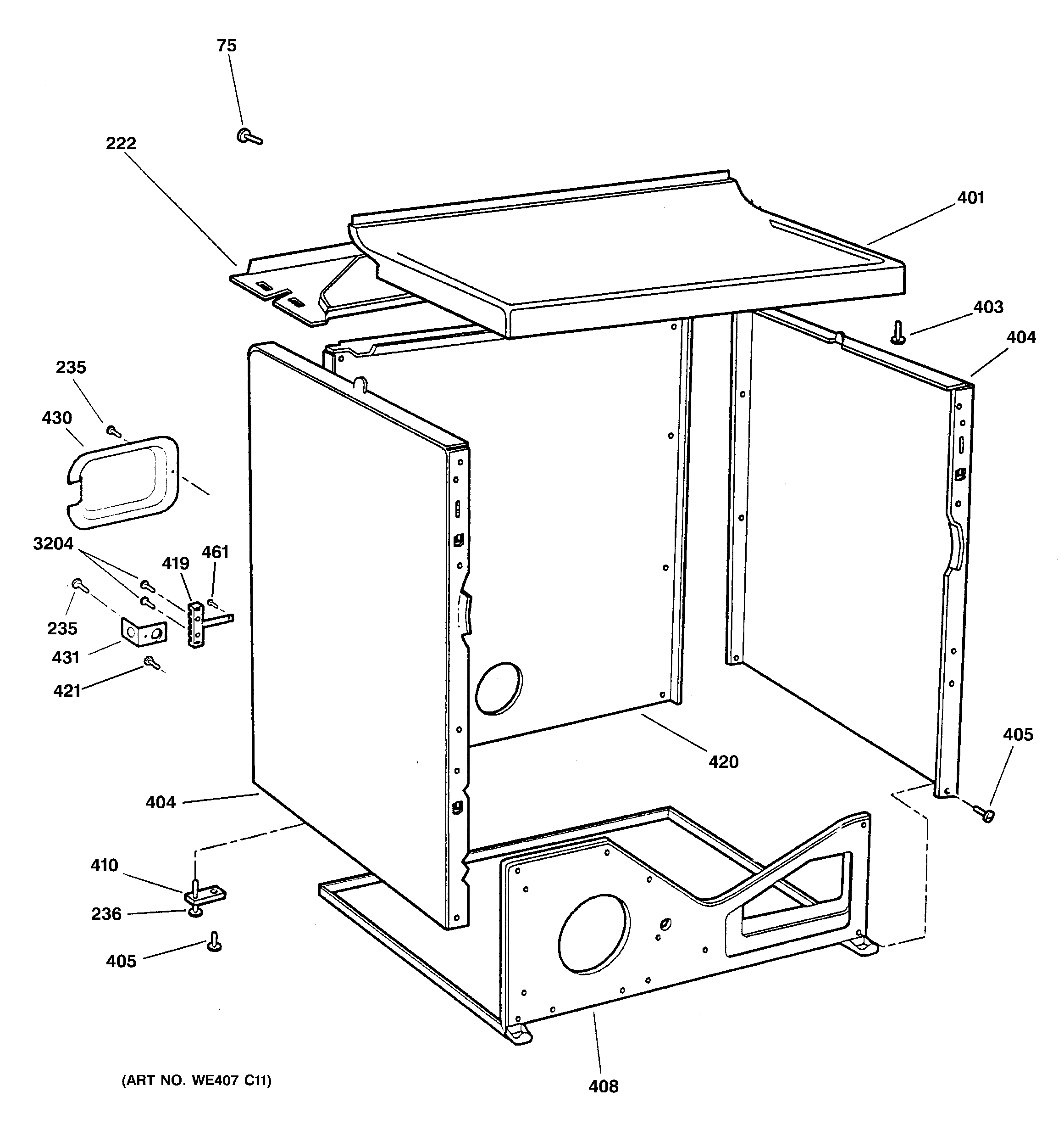 Ge Model Dx2300Eg1Ww Residential Dryer Genuine Parts - Ge Dryer Wiring Diagram