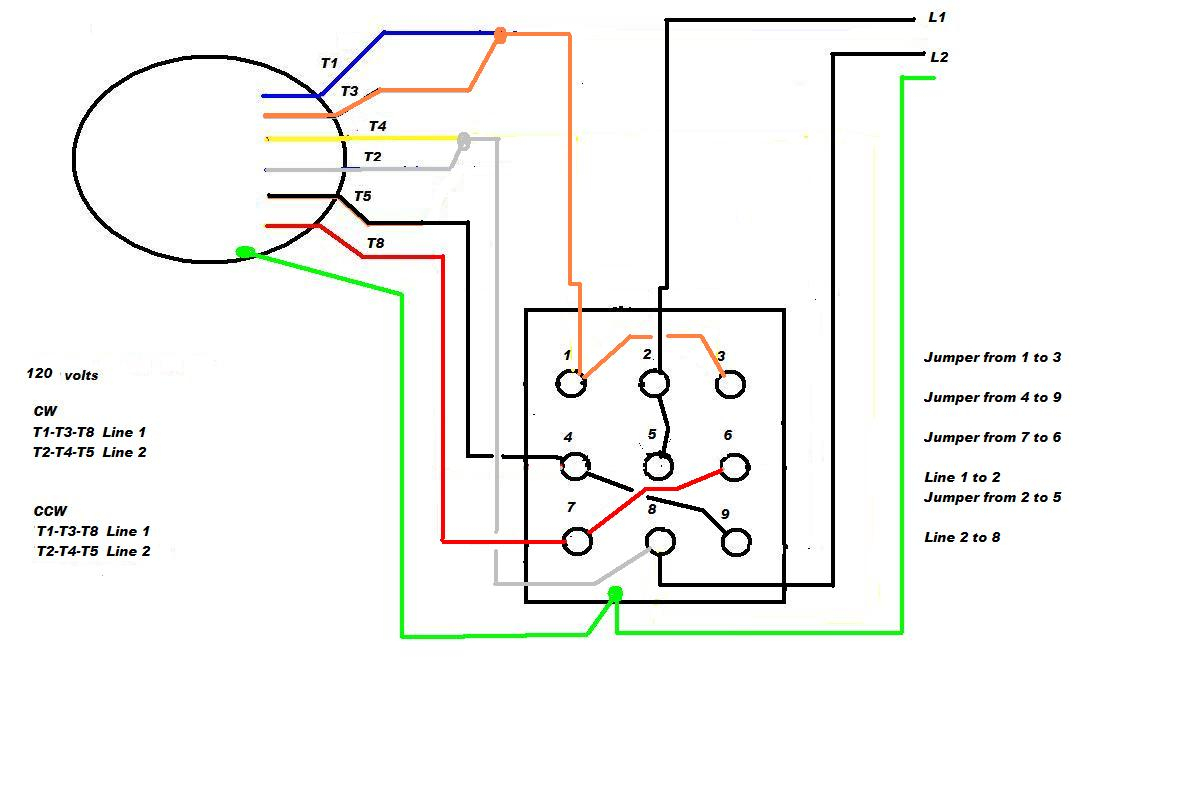Ge Single Phase Motor Wiring Diagrams - Wiring Diagram Explained - Single Phase Motor Wiring Diagram