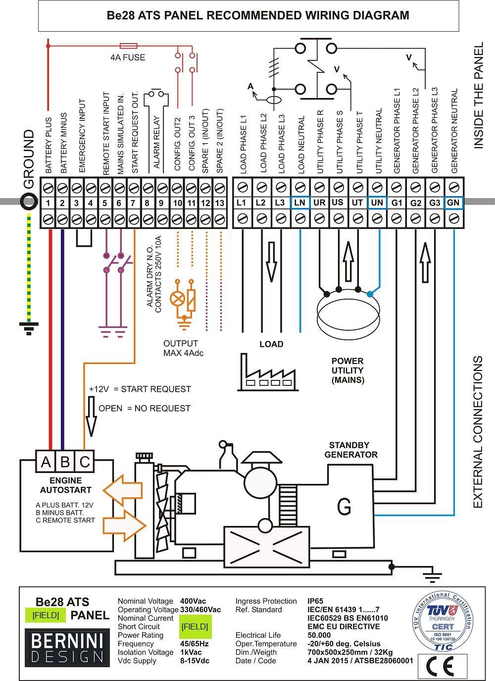 Generac Generator Wiring Diagram Solar | Manual E-Books - Generac 100 Amp Automatic Transfer Switch Wiring Diagram