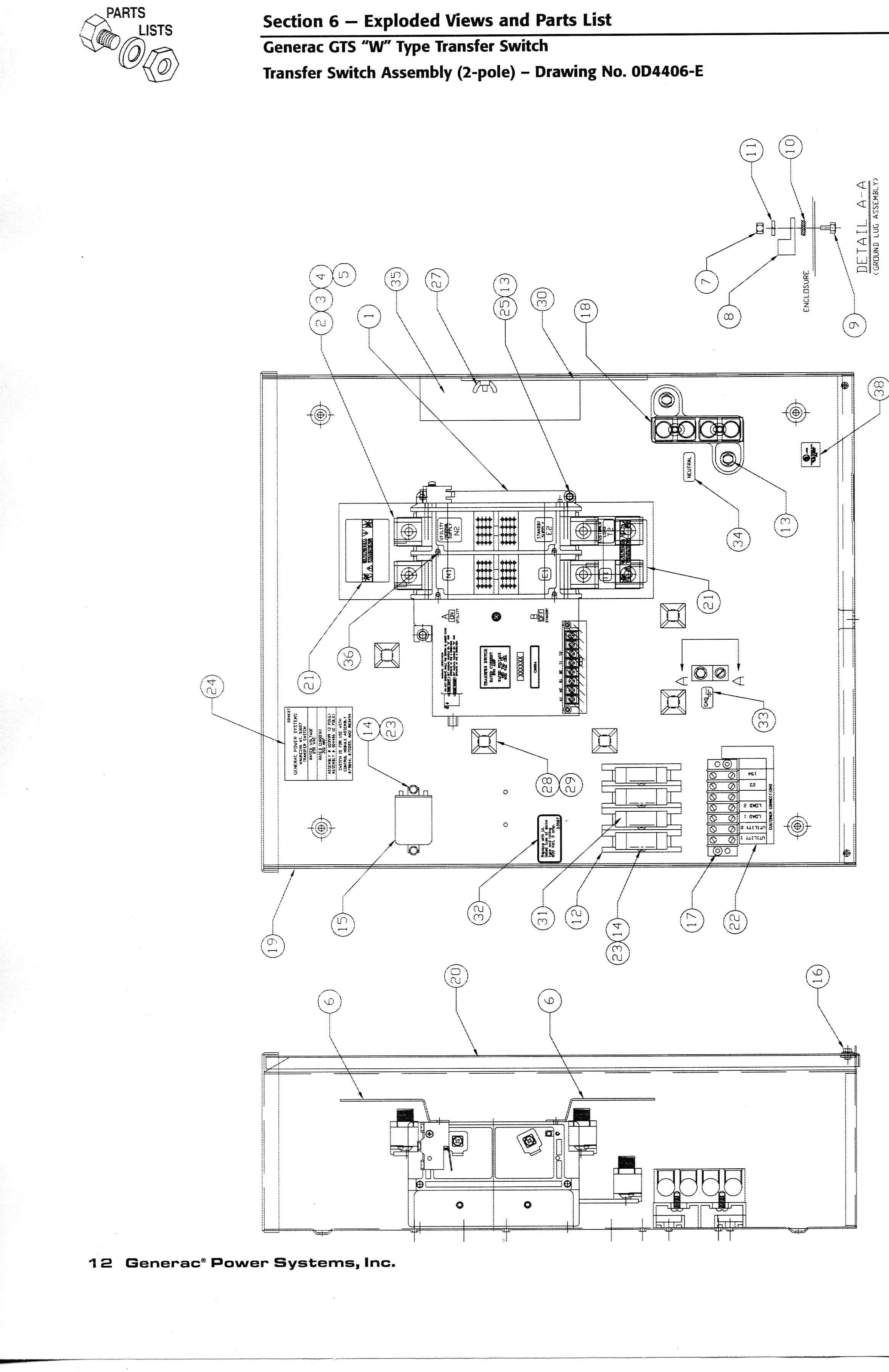 Generac Nexus Switch Wiring | Manual E-Books - Generac 200 Amp Transfer Switch Wiring Diagram