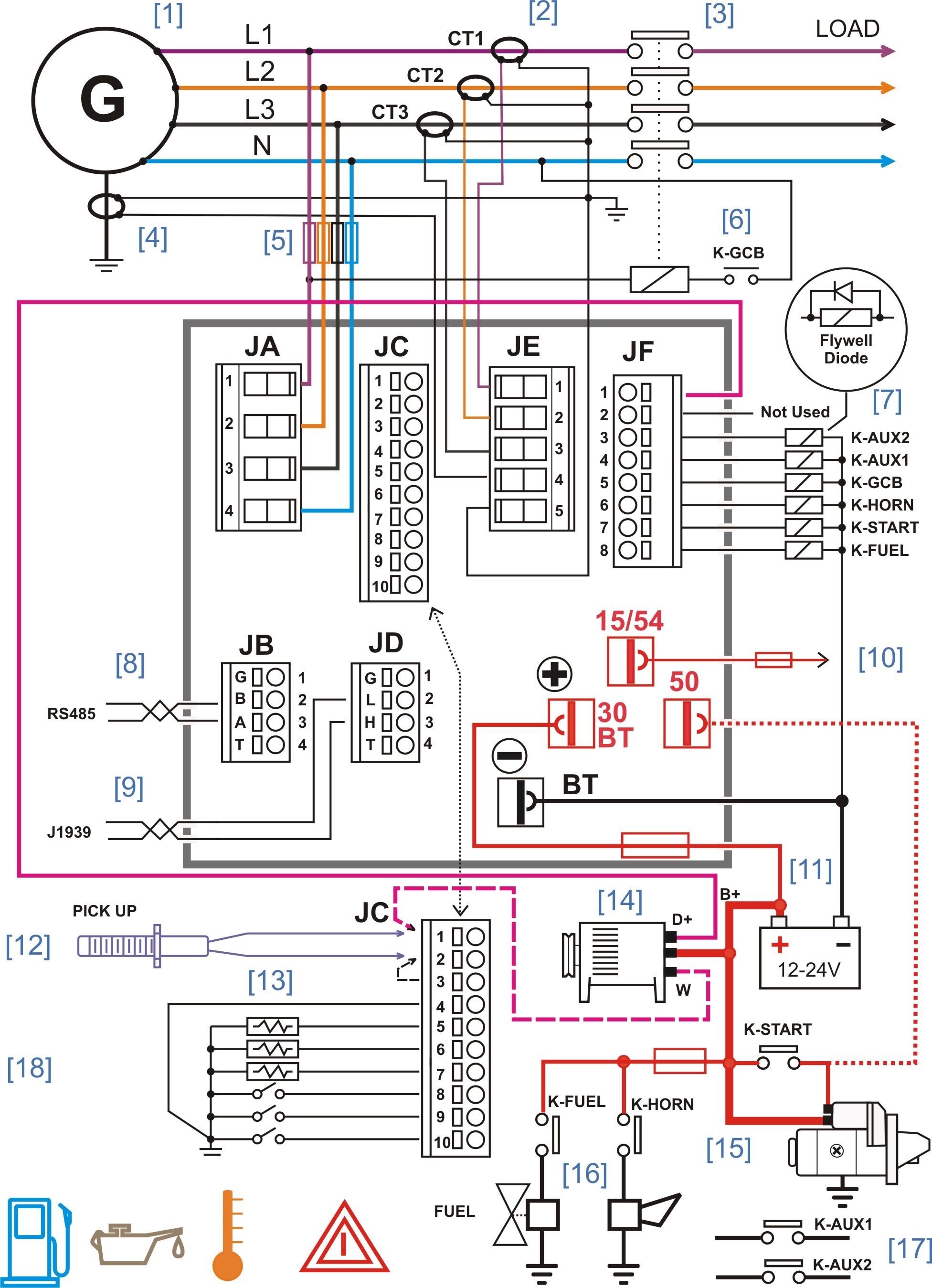 Generator Controller Wiring Diagram – Generator Controller Manufacturers - Generator Wiring Diagram