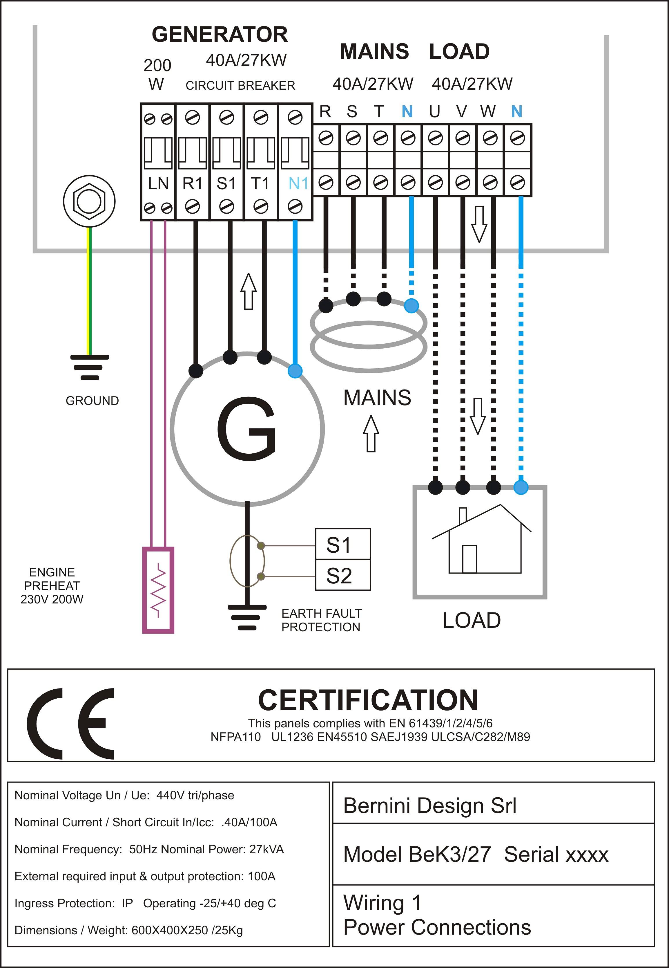 Generator Transfer Switch Wiring Diagram Lovely 3 Phase Automatic In - Generator Automatic Transfer Switch Wiring Diagram
