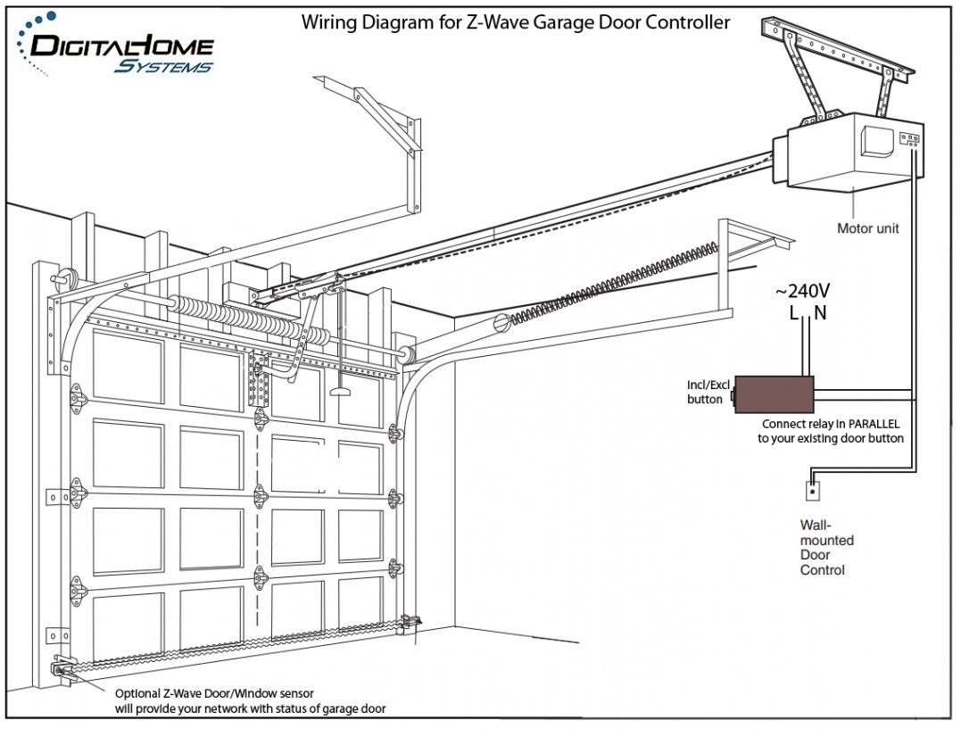 Genie Garage Door Opener Sensor Wiring Diagram | Interesting - Chamberlain Garage Door Opener Wiring Diagram