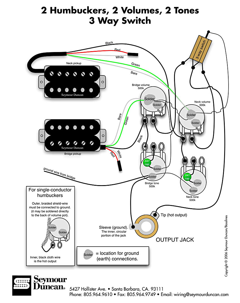 Gibson Les Paul Humbucker Wiring | Manual E-Books - Gibson Les Paul Wiring Diagram