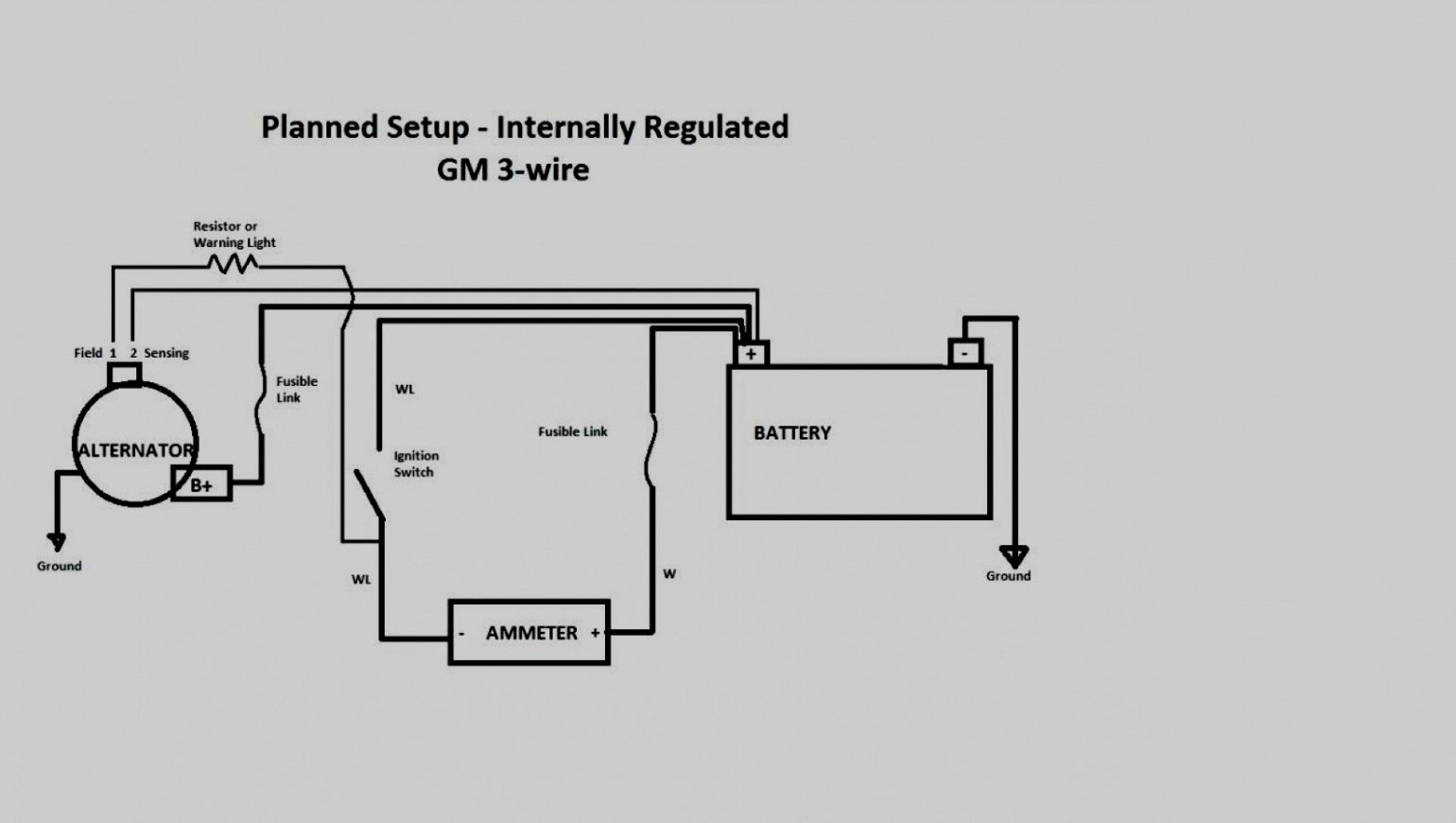 Gm 3 1 Wiring | Wiring Diagram - Gm 2 Wire Alternator Wiring Diagram