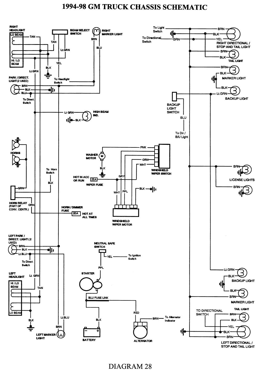 Gm Headlight Wiring Diagram | Schematic Diagram - Headlight Dimmer Switch Wiring Diagram