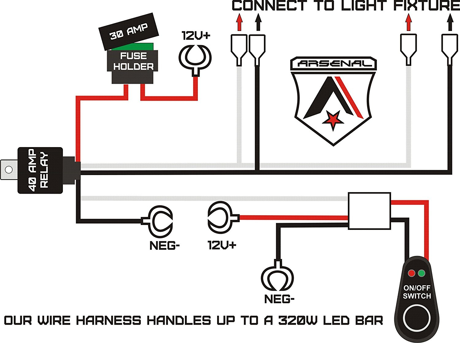Good Led Light Bar Wiring Harness Diagram About Remodel Wire - Led Light Bar Wiring Harness Diagram