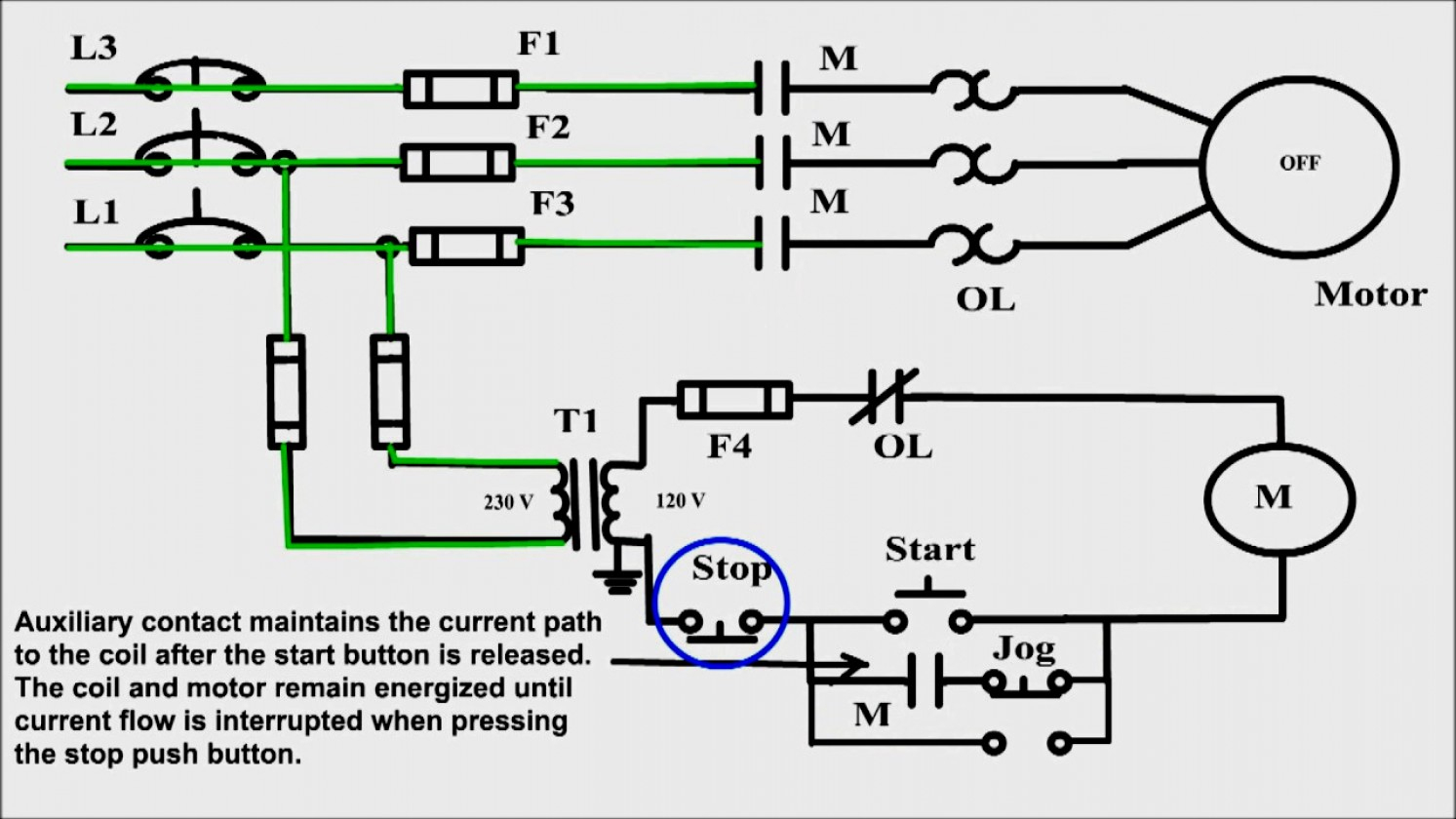 Great Of How To Wire Start Stop Switch Diagrams Wiring Diagram - Start Stop Push Button Wiring Diagram