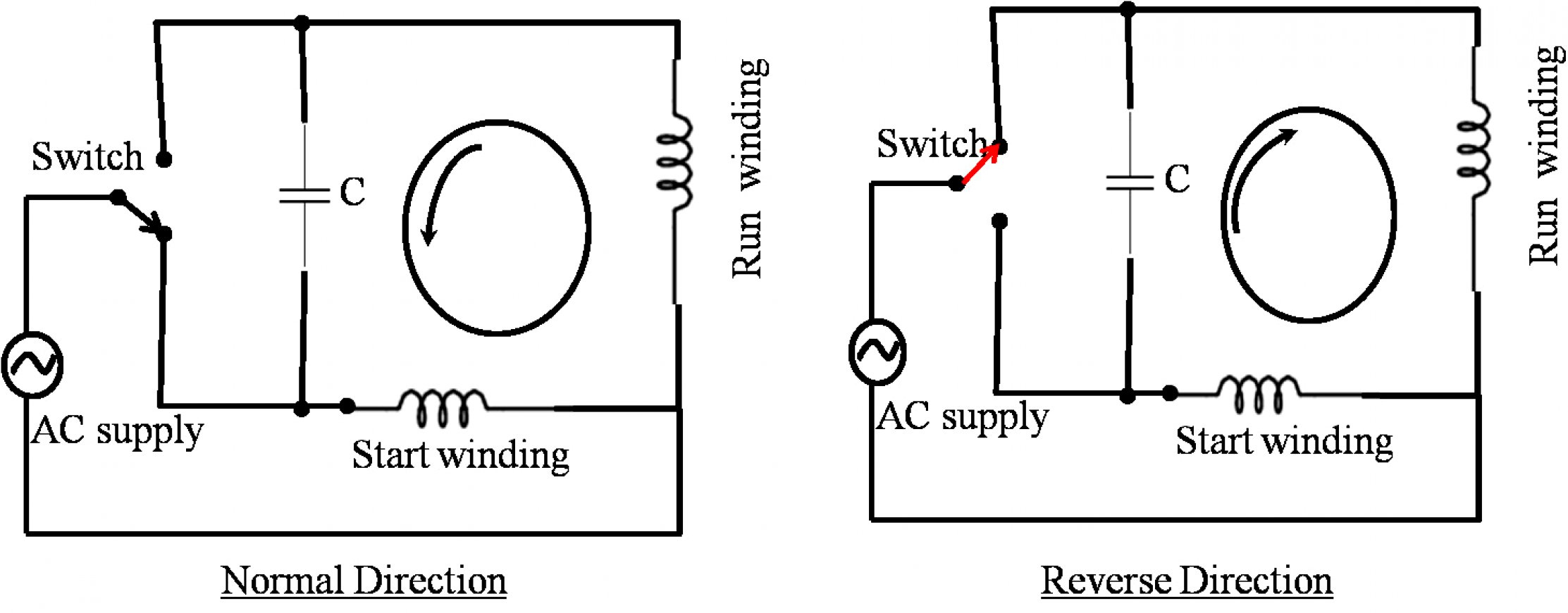 Reversing Single Phase Motor Wiring Diagram