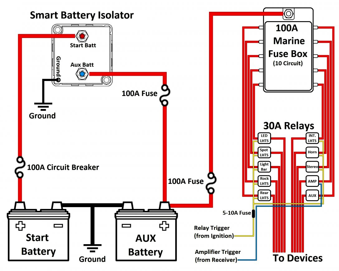 Guest Battery Isolator Wiring Diagram | Wiring Diagram - 12V Battery Isolator Wiring Diagram