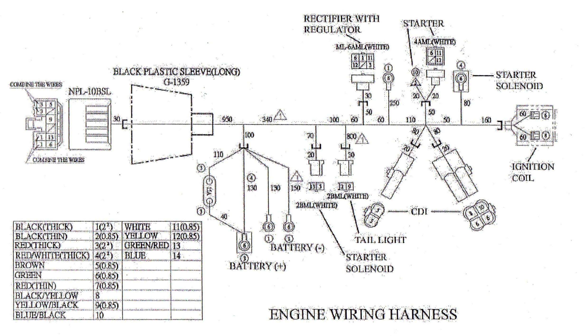 Diagram 50cc Gy6 Engine Wiring
