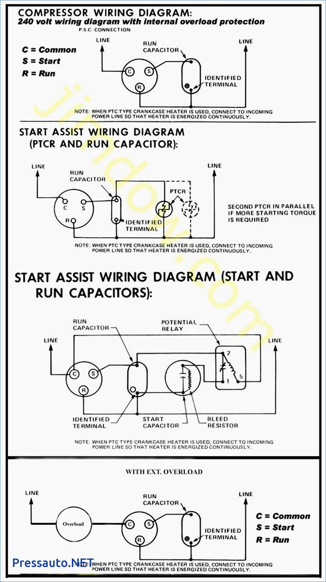 Hard Start Capacitor Wiring Diagram Throughout Starting | Got It Now - Hard Start Capacitor Wiring Diagram