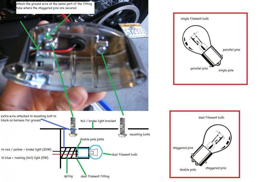 Harley Brake Light Wiring Diagram   Wiring Diagram - Tail Light Wiring Diagram