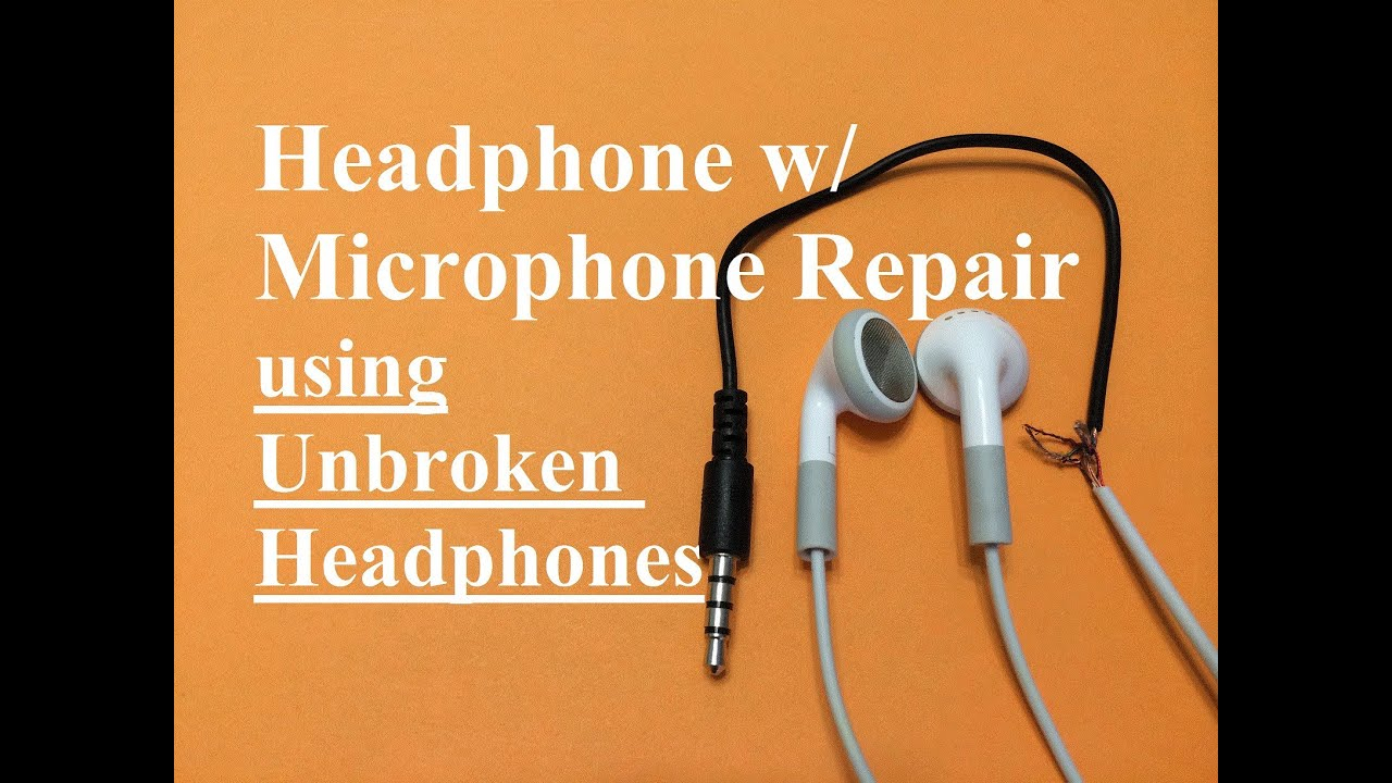 Headphone W/ Microphone Repair (Unbroken Headphone Set) - Youtube - 3.5 Mm Headphone Jack Wiring Diagram