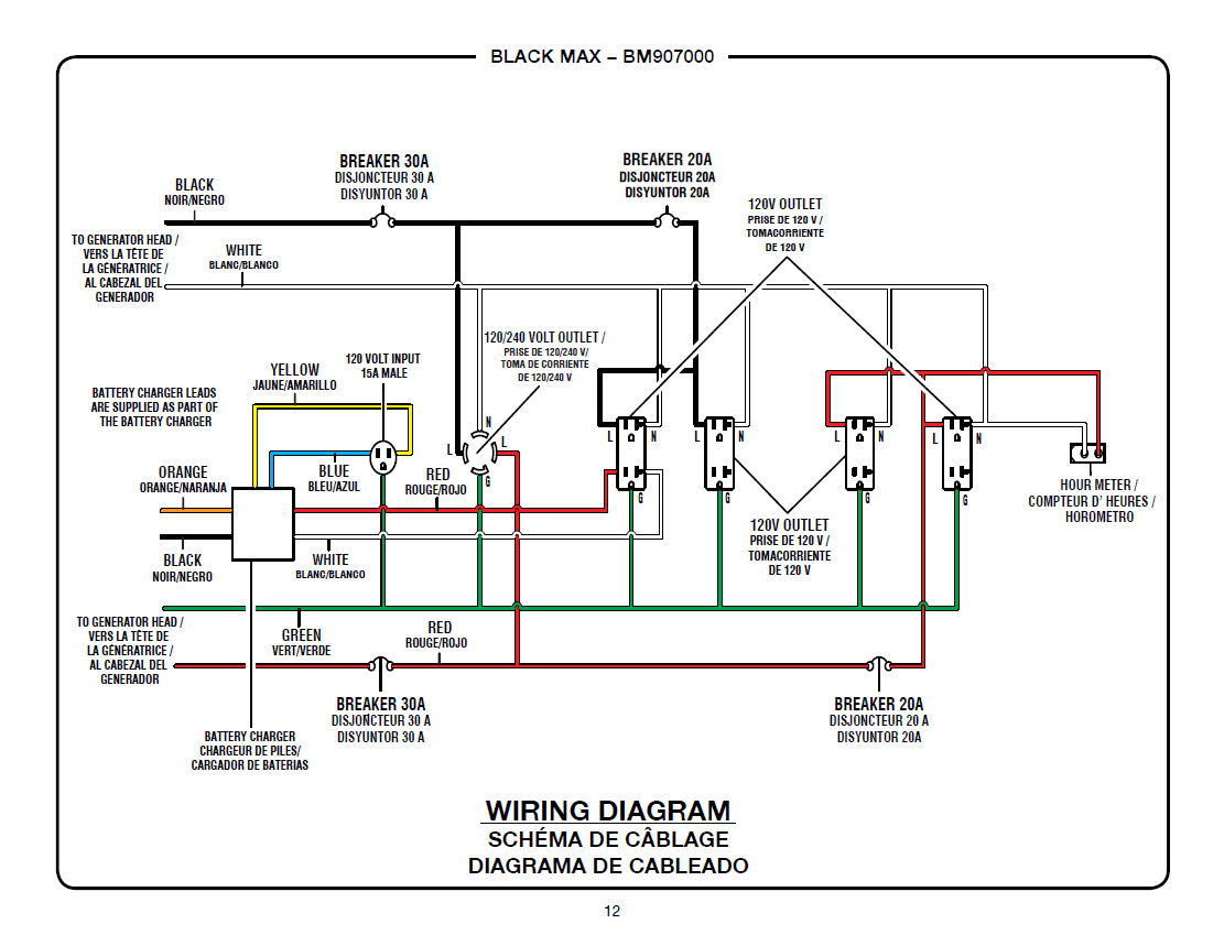 Homelite Generator Wiring Diagram | Manual E-Books - Generator Wiring Diagram