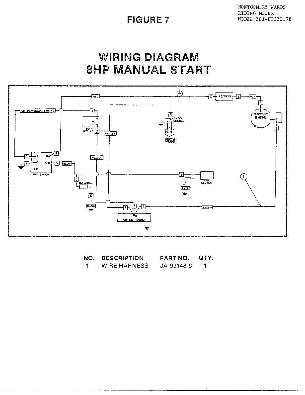 Homelite Model Ut32017B Walk Behind Lawnmower, Gas Genuine Parts - Riding Lawn Mower Wiring Diagram