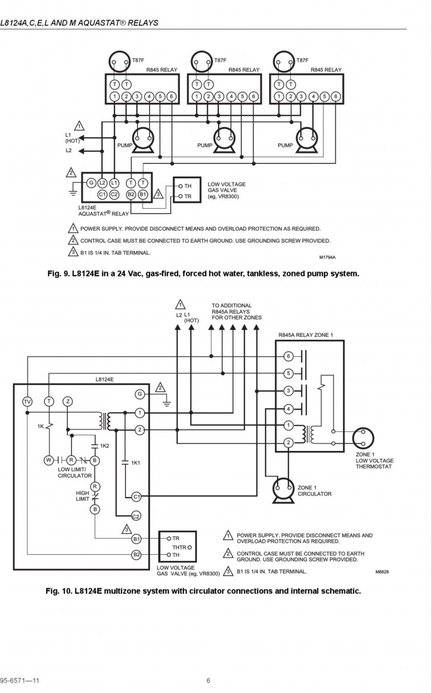 Honeywell L6006C 1018 Wiring Diagram | Wiring Diagram - Honeywell Aquastat Wiring Diagram