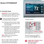 Honeywell Rth9580Wf Thermostat Wiring Diagram | Wiring Diagram   Honeywell Rth9580Wf Wiring Diagram