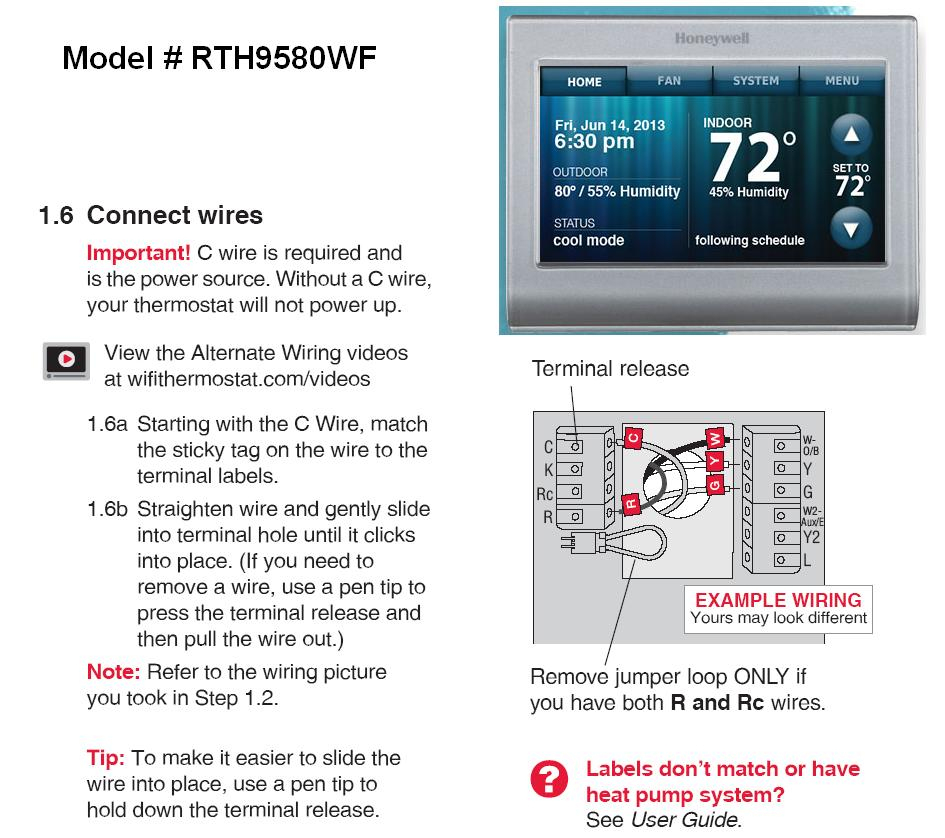 Honeywell Rth9580Wf Thermostat Wiring Diagram | Wiring Diagram - Honeywell Rth9580Wf Wiring Diagram