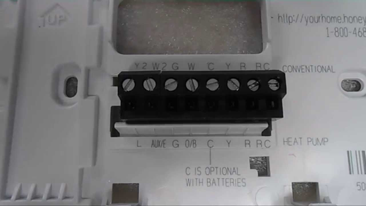 Honeywell Thermostat Installation And Wiring - Youtube - Honeywell Thermostat Wiring Diagram