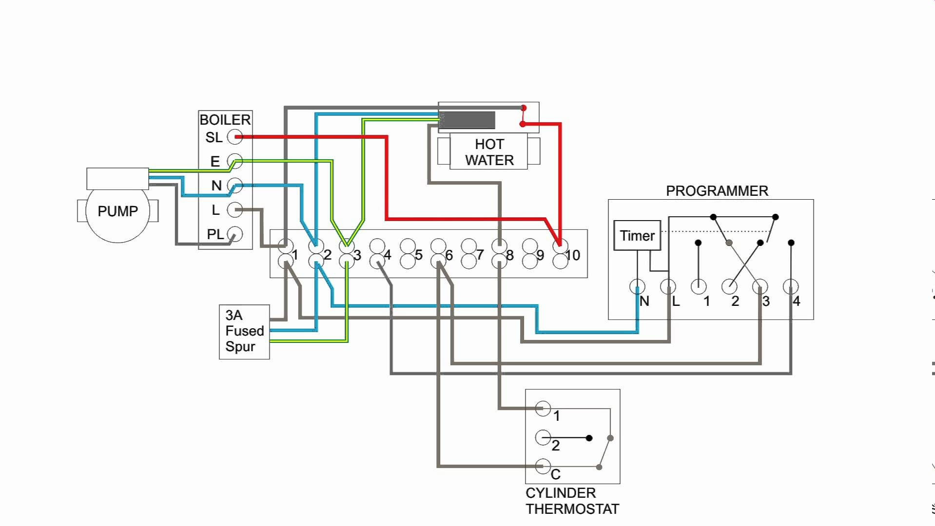 Hot Water Heating System Wiring Schematic   Switch Wiring Diagram - 5 Wire Thermostat Wiring Diagram