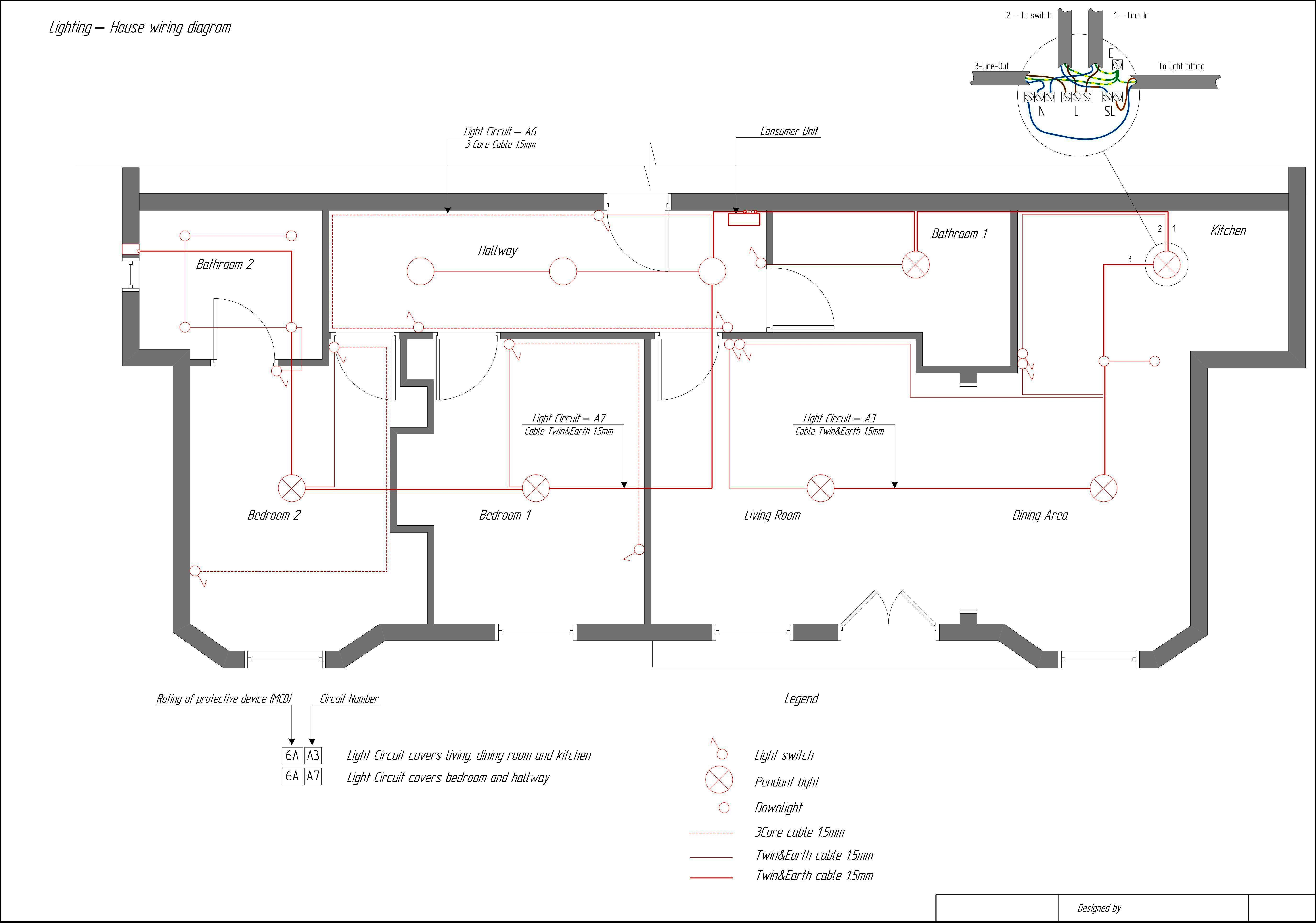 House Electrical Circuit Diagram - Wiring Diagrams Hubs - Home Electrical Wiring Diagram
