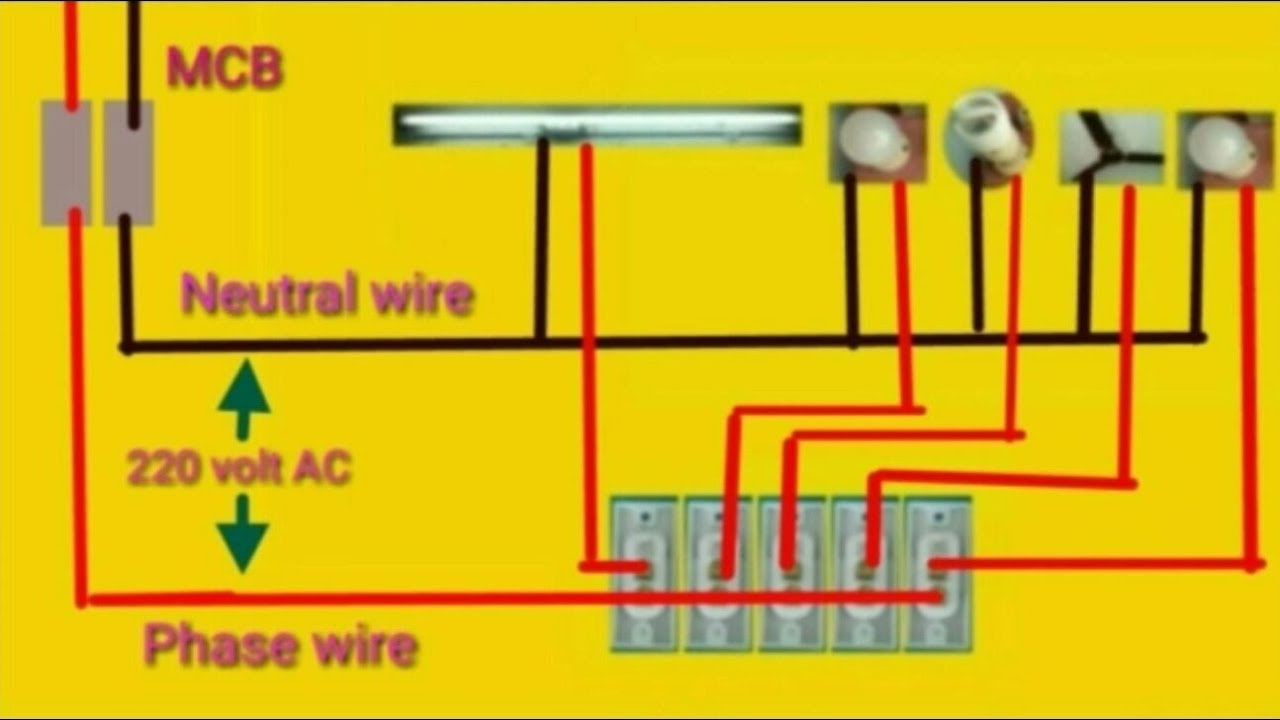 House Wiring Or Home Wiring Connection Diagram - Youtube - 220 Wiring Diagram