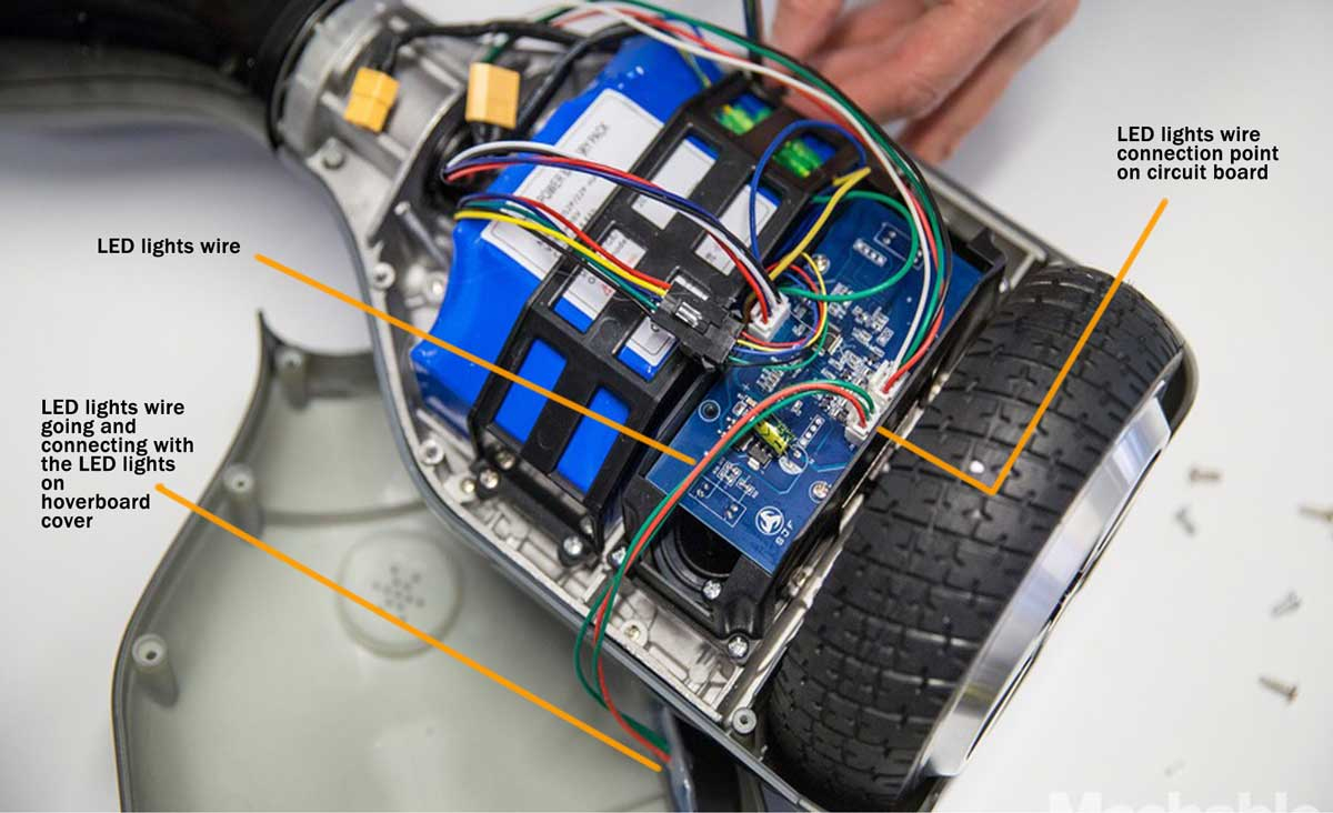 Hoverboard Repair Tutorial For Loose Connections And Wiring Diagram