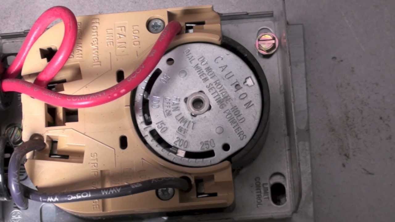 How The Honeywell Fan And Limit Switch Works. - Youtube - Honeywell Fan Limit Switch Wiring Diagram