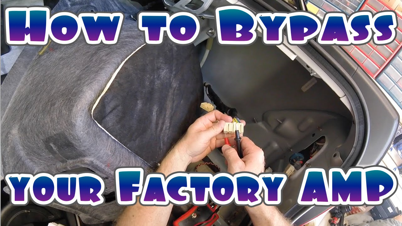 How To Bypass Your Cars Factory Amplifier - Mercury 8 Pin Wiring Harness Diagram