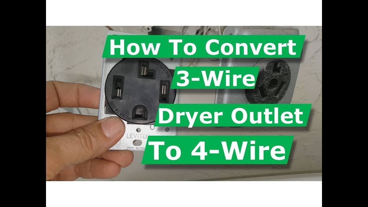 How To Convert 3 Wire Dryer Electrical Outlet To 4 Wire - Youtube - 3 Wire Stove Plug Wiring Diagram