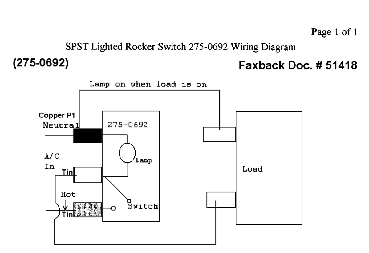 How To Hook-Up An Led-Lit Rocker Switch With 115V Ac Power W/o - Led Wiring Diagram