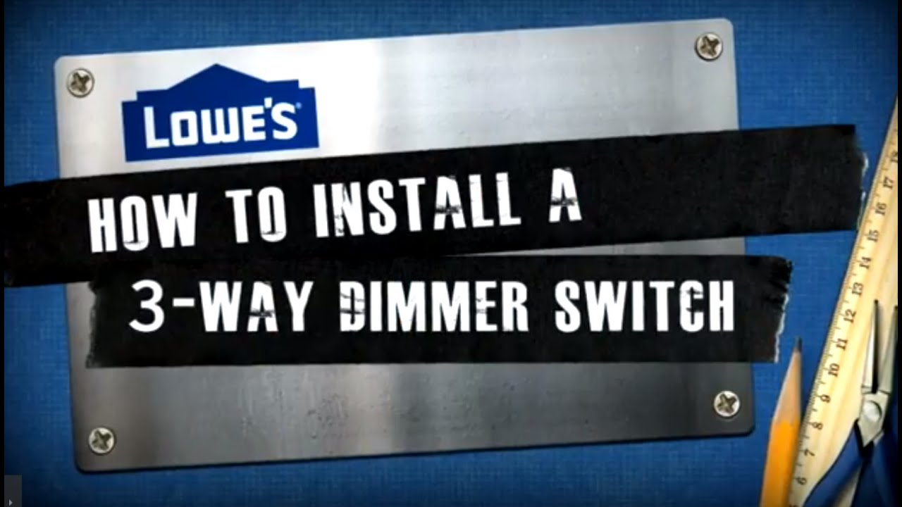 How To Install A 3-Way Dimmer Switch - Youtube - 3 Way Dimmer Switch Wiring Diagram