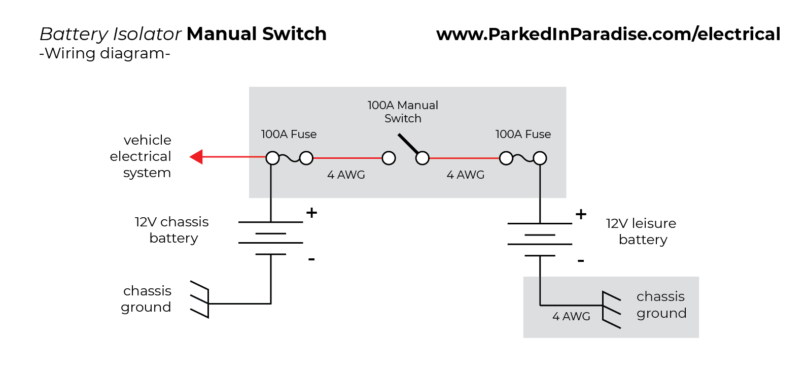 How To Install A Battery Isolator In Your Conversion Van | Parked In - Rv Battery Isolator Wiring Diagram