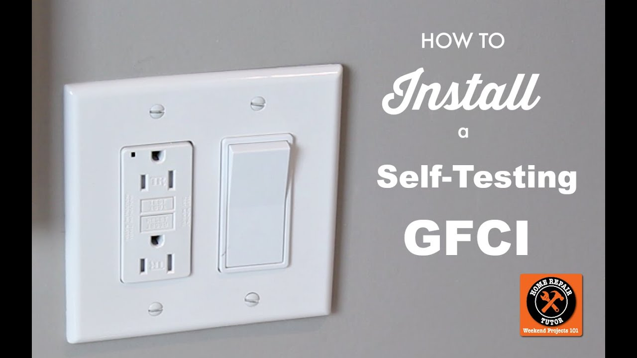 How To Install A Gfci Outlet Like A Pro --Home Repair Tutor - Wiring A Gfci Outlet With A Light Switch Diagram