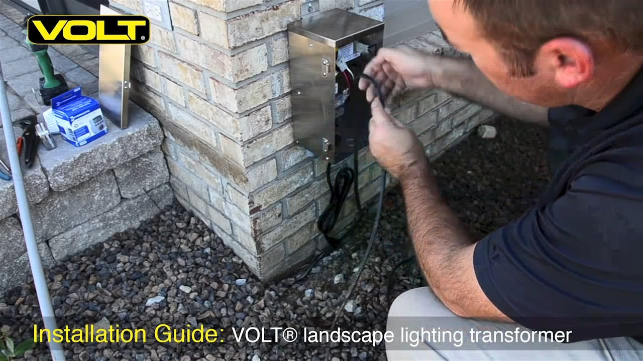 How To Install A Low Voltage Landscape Lighting Transformer | Volt - Low Voltage Lighting Transformer Wiring Diagram