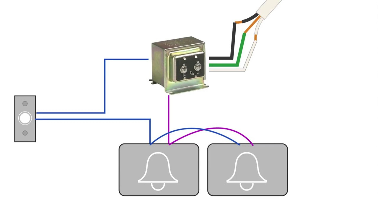 How To Install A Second Doorbell Chime Wiring Diagram - Youtube - Door Bell Wiring Diagram