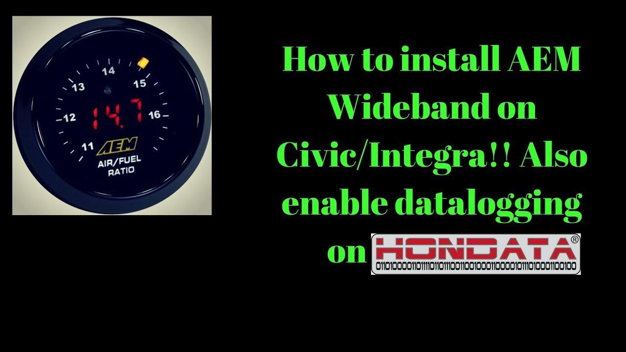 How To Install Aem Wideband On Honda Civic Eg/integra & Enable Data - Aem Wideband Wiring Diagram