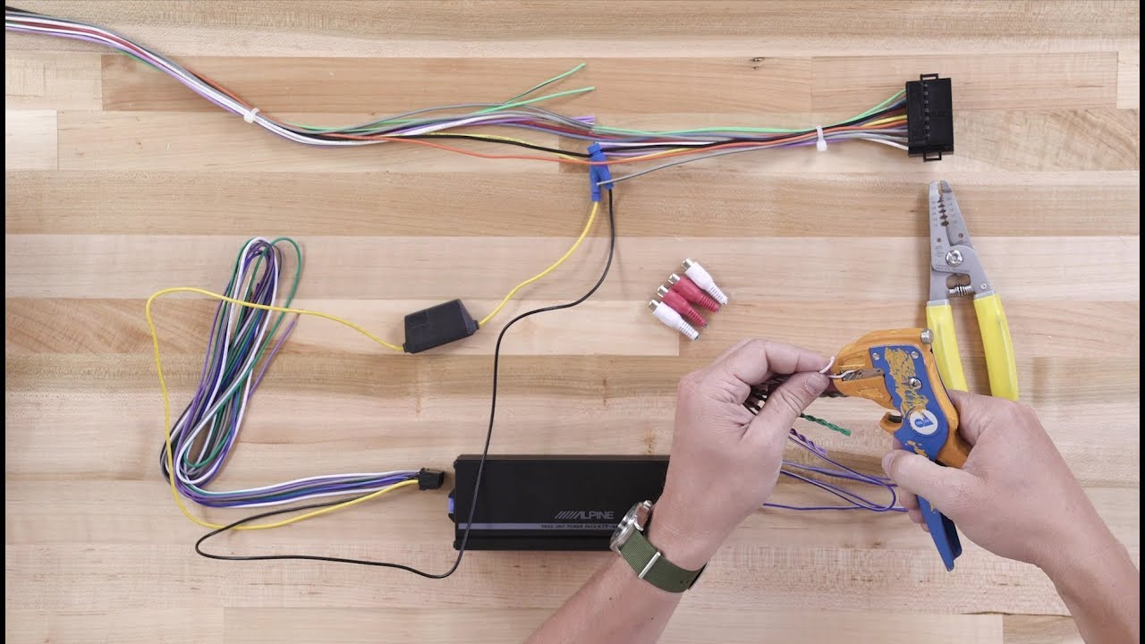 How To Install The Alpine Ktp-445U Power Pack Compact Amplifier - Alpine Ktp 445 Wiring Diagram
