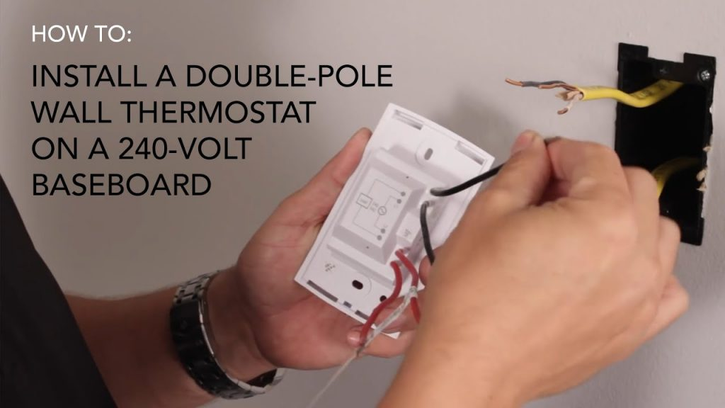 How To Install  Wall Thermostat   Double