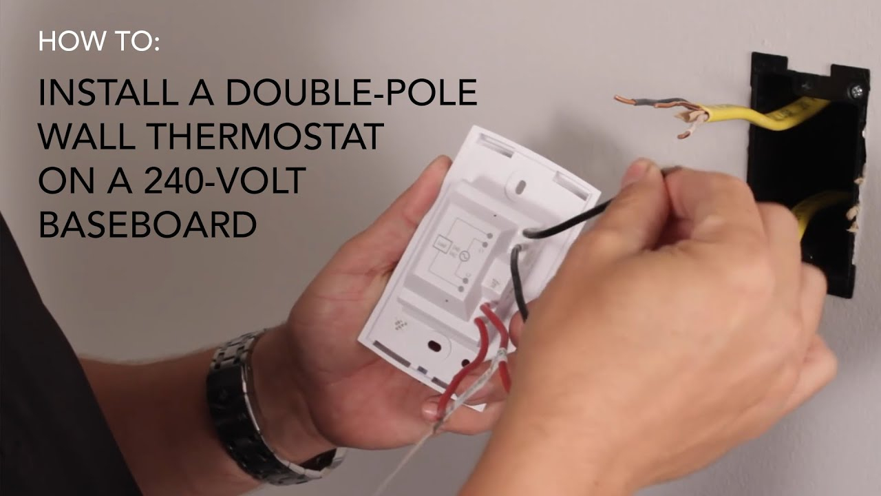 How To Install: Wall Thermostat , Double-Pole On 240V Baseboard - 240 Volt Baseboard Heater Wiring Diagram