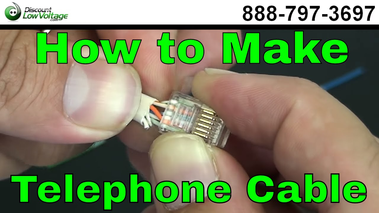How To Make A Telephone Cable - Usoc Rj11 Rj45 - Youtube - Cat5 Phone Line Wiring Diagram
